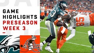 Eagles vs. Browns Highlights | NFL 2018 Preseason Week 3