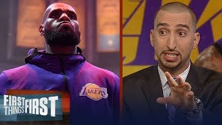 Nick Wright on LeBron's comments on Dan Gilbert, Warriors' losing streak | NBA | FIRST THINGS FIRST