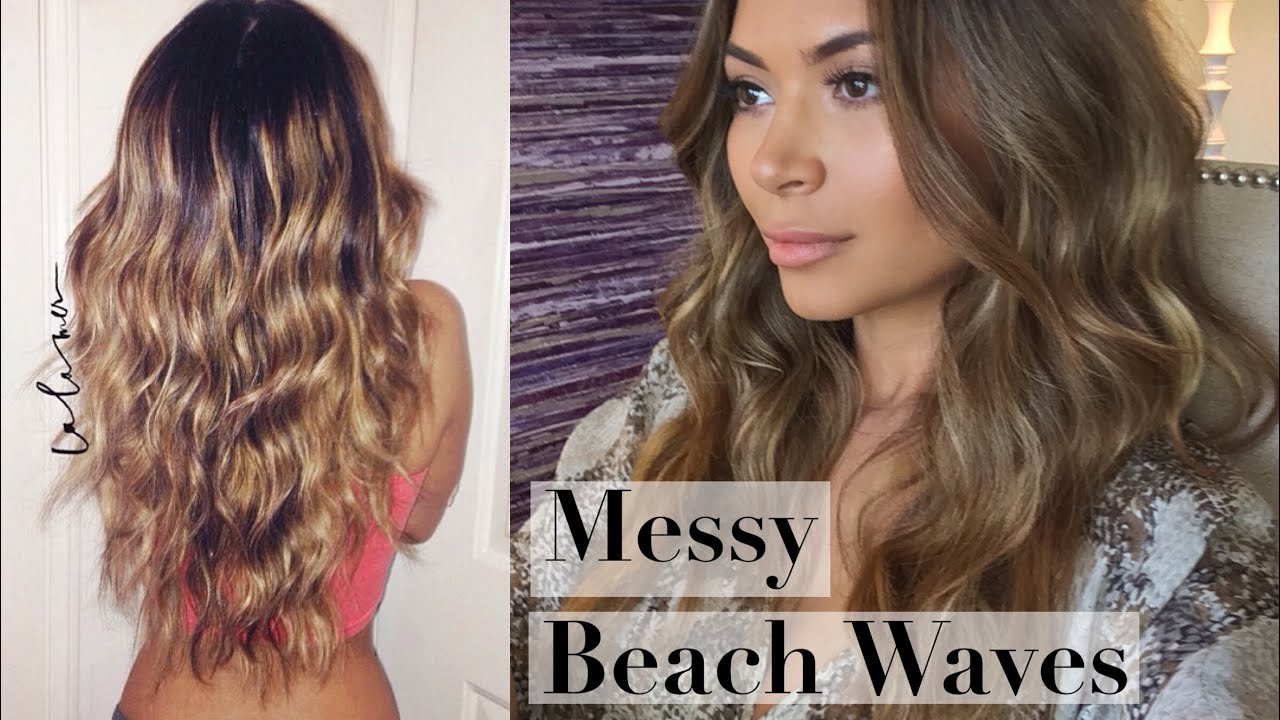 Messy Beach Waves Curls Hair Tutorial Youtube