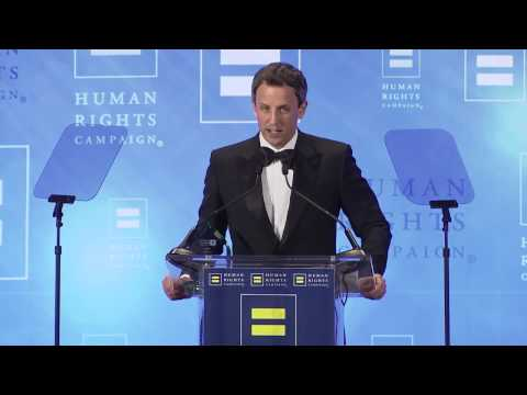 Billy Eichner Presents Seth Meyers with HRC's Equality Award