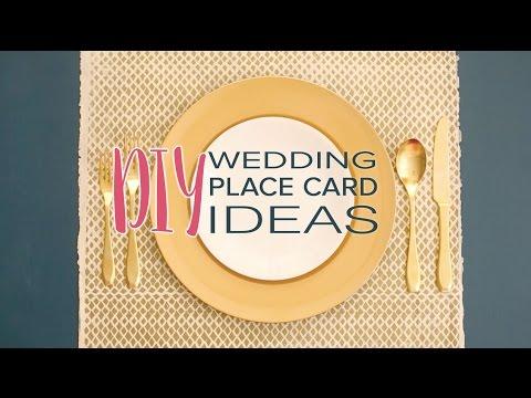 DIY Wedding Place Card Ideas