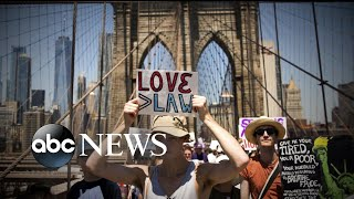 Massive crowds march against Trump administration's immigration policy