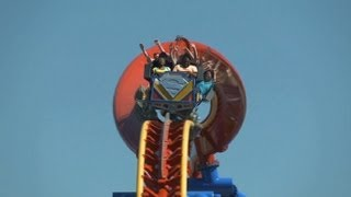 Superman: Ultimate Flight on-ride POV & off-ride b-roll footage Six Flags Discovery Kingdom