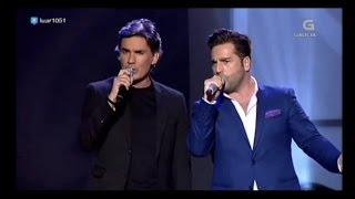 Nando Agüeros y David Bustamante - La Santina - TV
