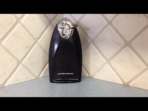 video Hamilton Beach Heavyweight Electric Automatic Can Opener Review