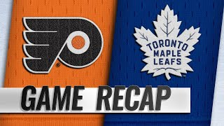 Matthews and Muzzin each score two in win vs. Flyers
