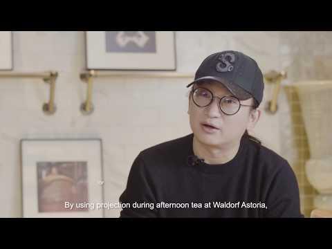 Epson LightScene projectors' customer story: Galaxy Cafe @ Waldorf Astoria hotel, Beijing