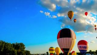 Gatineau Hot Air Balloon Festival / Montgolfieres de Gatineau 2012 - Time Lapse