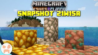 CAVES AND CLIFFS IS NOW TWO UPDATES! | Minecraft 1.17 Caves and Cliffs Snapshot 21w15a