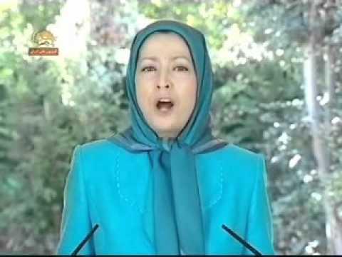 مريم رجوي - تظاهرات عليه احمدي نژاد - نيويورك - 1