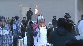 Волгоград: Олимпийский огонь при минус 20°C