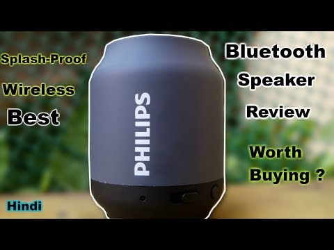 video Philips BT50B Portable Wireless Bluetooth Speaker Review<span class=