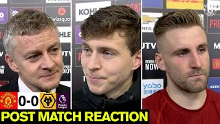 Solskjaer, Lindelof & Shaw React to Wolves Draw | Manchester United 0-0 Wolverhampton Wanderers
