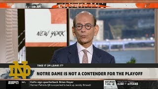 ESPN FIRST TAKE   Paul Finebaum on College Football: Notre Dame is not a contender for Playoff