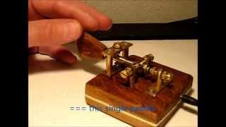 Homemade single paddle morse key