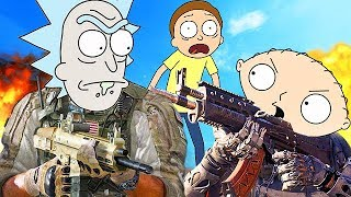 RICK AND MORTY PLAY CALL OF DUTY! (Voice Trolling Funny Moments) - YouTube