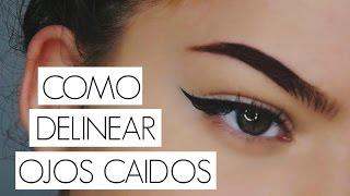 COMO DELINEAR PARPADOS CAIDOS!? // Aprende a maquillarte
