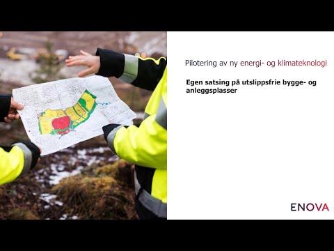 Pilotering av ny energi- og klimateknologi - utdrag fra webinar