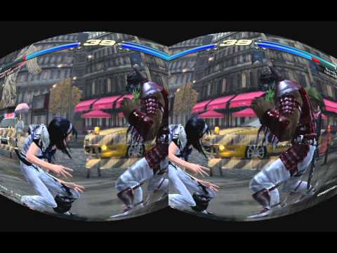 XBOX 360 Tekken Tag Tournament stereoscopic 3D realtime rifted for Oculus Rift