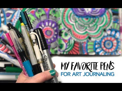 my favorite pens for art journaling