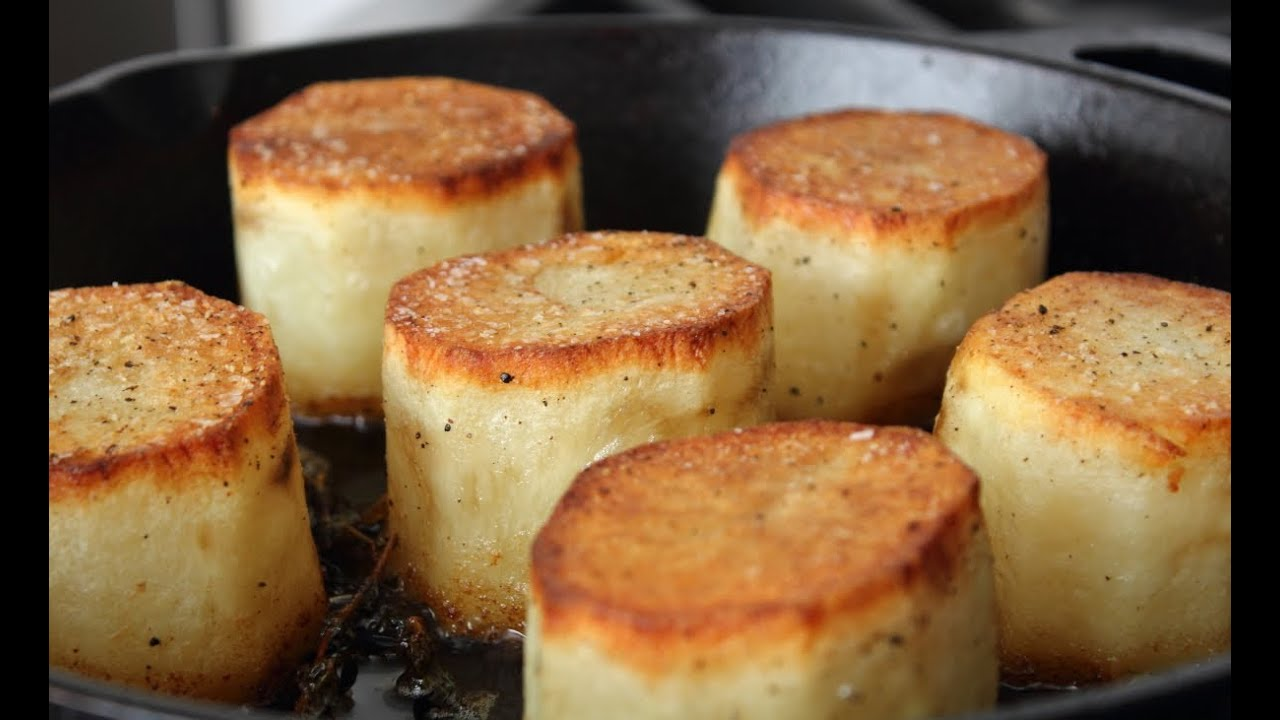 Fondant Potatoes Crusty Potatoes Roasted With Butter And