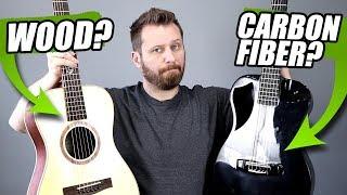 WOOD or CARBON FIBER? - Travel Guitar Tone Comparison!