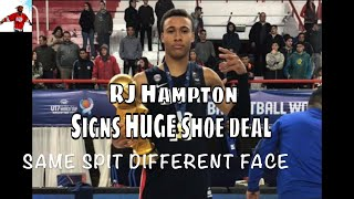 RJ Hampton TOP 5 Prep Signs HUGE SHOE Deal + Owns Rights To Name and Logo