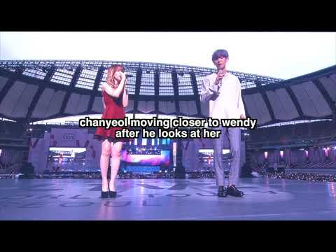 EXO Chanyeol and Red Velvet Wendy moments
