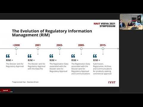 "NNIT Veeva 2021 Symposium -  Breakout ""Transforming Regulatory Affairs"""