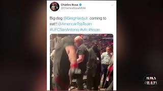 MMA Pros React to Greg Hardy TKO Juan Adams at UFC San Antonio