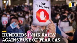 Hundreds in Hong Kong rally against use of tear gas