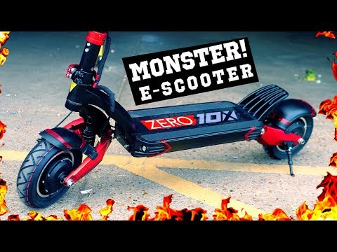 MONSTER E-SCOOTER! ? ZERO 10X Electric Scooter Review (TurboWheel Lightning)