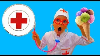 Kids play a DOCTOR!Little Marianna treats brother Nikita! I'm your friend a DOCTOR!