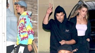 Justin Bieber Dons Tie Dye As He Hits Church With Taylor Lautner