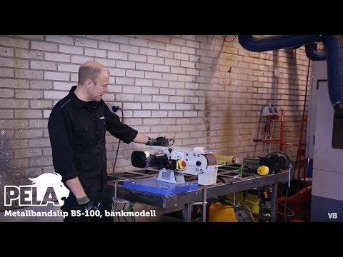 Metallbandslip BS-100, bänkmodell från Verktygsboden