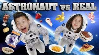 ASTRONAUT FOOD vs. REAL FOOD CHALLENGE!!! Outer Space Taste Test!