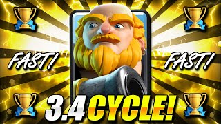 #1 HOTTEST Deck in Clash Royale now! New 3.4 Royal Giant Cycle!!
