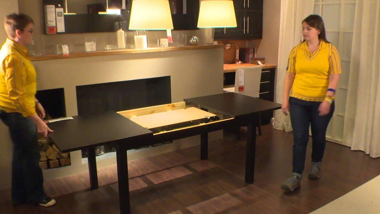bjursta table ikea home tour youtube. Black Bedroom Furniture Sets. Home Design Ideas