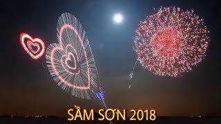 102Flycam SẦM SƠN BẮN PHÁO HOA du lịch đẹp mắt nhất 2018