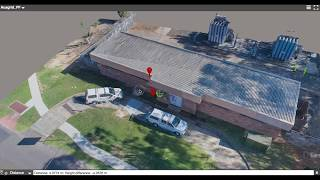 Drone roof/building inspections as a 3D model
