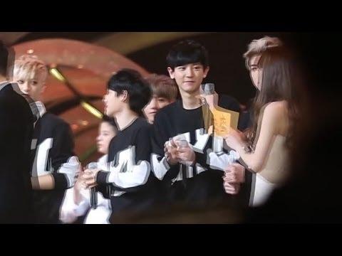 140116 Chanyeol - Sehun & Taeyeon - 28th Golden Disk Awards