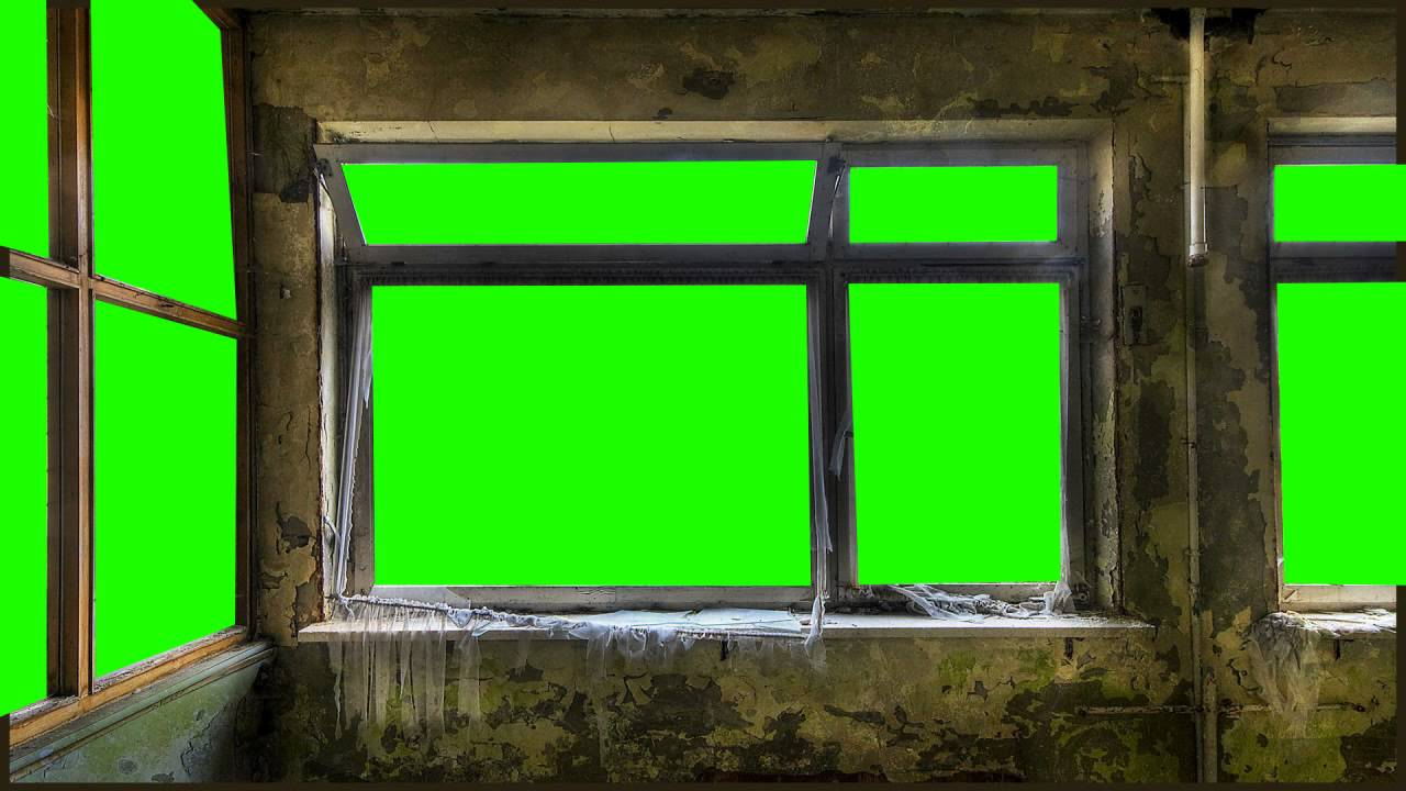 scary room in green screen free stock footage - YouTube