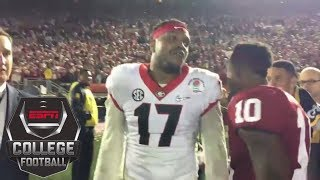 Georgia linebacker yells 'humble yourself!' at Baker Mayfield after 2018 Rose Bowl   ESPN