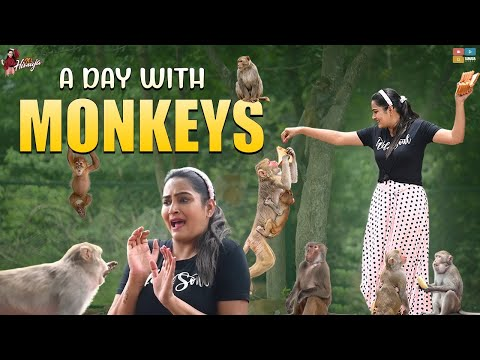 Bigg Boss fame Himaja spends a day with monkeys