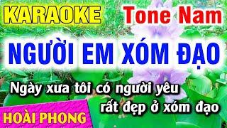 Karaoke Người Em Xóm Đạo Tone Nam Nhạc Sống | Hoài Phong Organ