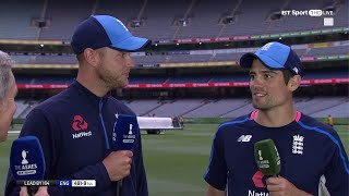Alastair Cook's daddy double hundred | Must watch end of play chat with Cook and Broad