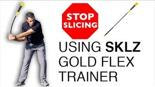 SKLZ Gold Flex Training Aid, How to use a whippy club to stop slicing