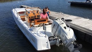 2013/1971 Metan Boston Whaler Outrage 21' Restoration - YouTube