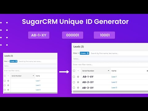 Generate Serial Numbers With SugarCRM Unique ID Generator