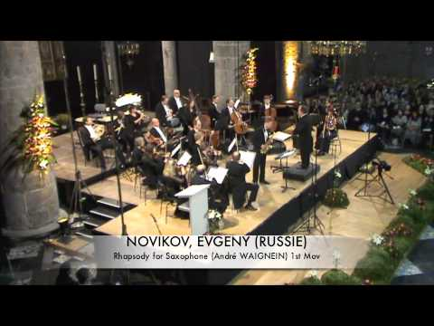 NOVIKOV, EVGENY (RUSSIE) Rhapsodie for Saxophone part 1
